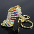Pretty Multicolor High-Heel Shoe Key Ring KeyChain W/ Swarovski Crystals