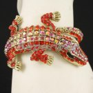 Swarovski Crystals Hot Pretty Fashion Red A/B Crocodile Bracelet Bangle