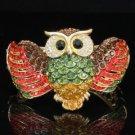 Hot High Quality Swarovski Crystals Red Owl Bracelet Bangle Cuff