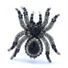 Ghastful Tarantula Spider Brooch Broach Pin W/ Rhinestone Crystals Halloween