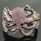 Trendy Purple Crystals Animal Octopus Bracelet Bangle Cuff Jewelry Rhinestone