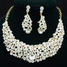 Rhinestone Crystals Simple Vogue Necklace Earring Wedding Jewelry Sets 02375