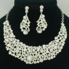 New Clear Rhinestone Crystals Charm Simple Vogue Necklace Earring Set