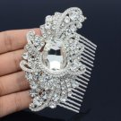 Popular Flower Hair Comb Tiara Clear Rhinestone Crystals Bridal