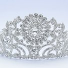 High Quality Bride Bridal Clear Flower Tiara Crown w Swarovski Crystals JH8579