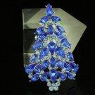 Swarovski Crystals New Blue Christmas Tree Brooch Broach Pin