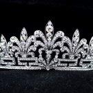 Bridal Floral Flower Tiara Crown W/ Clear Swarovski Crystals For Wedding SH8586