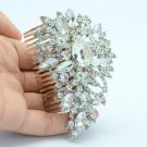 Bridal Floral Flower Hair Comb Jewelry W Swarovski Crystals For Wedding 0480