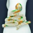 High Quality Clear Swarovski Crystals Snake Bracelet Bangle Cuff 1201