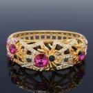 H-Quality Pink Tarantula Spider Bracelet Bangle W/ Swarovski Crystals Halloween