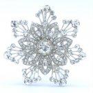 """Chic Bridal Bridesmaid Flower Brooch Pin 2.4"""" W/ Clear Rhinestone Crystals 5841"""