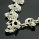 Lots Skull Necklace Earring Set  Multi Clear Swarovski Crystal Gothic Design
