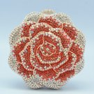 Bling Luxury Red Rose Flower Clutch Evening Bag Purse W/ Swarovski Crystals