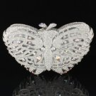 Gorgeous Clear Swarovski Crystal Butterfly Clutch Evening Bag Purse Handbag