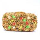 Gorgeous Multicolour Swarovski Crystals Laday Clutch  Evening Bag Purse Handbag