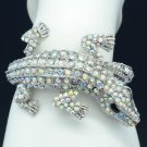 Terrible Animal Clear A/B Crocodile Bracelet Bangle Cuff W/ Swarovski Crystals