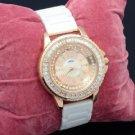 Women's White Ceramic Band Quartz Wristwatch Watch W/ Crystals WT00471
