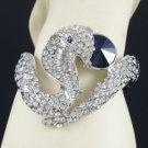 Clear Animal Cobra Snake Bracelet Bangle Cuff W/ Rhinestone Crystals