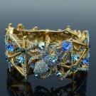 Vintage Style Swarovski Crystals H-Quality Blue Spider Bracelet Bangle Halloween