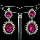 Pretty 8 Colors Dual Oval Rhinestone Crystals Pierced Dangle Earring 122115