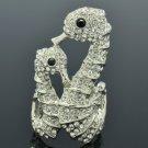 Popular Animal Sea Horse Cocktail Ring Sz 8# W Clear Swarovski Crystals SR2111-3