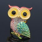 Mix Swarovski Crystals H-Quality Bird Owl Cocktail Ring Adjustable SR1993-2