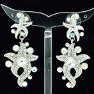High Quality Clear Swarovski Crystals Dangle Starfish Pierced Earring SEA0877-2