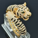 Clear Swarovski Crystals High Quality Animal Tiger Bracelet Bangle SKCA1947M