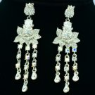 Wedding Swarovski Crystal Dangle Flower Pierced Earring w/ High Quality SE0813-3
