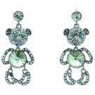 Swarovski Crystals Hi-Q Cute Dangle Black Bear Panda Pierced Earring SEA0886-4