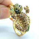Swarovski Crystals Ladybug Brown Scorpion Cocktail Ring Size 7# SR2109