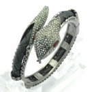 H-Quality Swarovski Crystals Synthetic Leather Snake Bracelet Bangle SKCA1605M-7