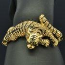 H-Quality Animal Tiger Bracelet Bangle W/ Brown Swarovski Crystals SKCA1387