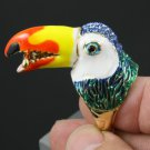 High Quality Swarovski Crystals Blue Bird Toucan Ring 9# Special Offer SR1807-1