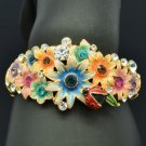 High Quality Ladybug Flower Bracelet Bangle W/ Mix Swarovski Crystal SKCA1783M-3