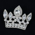 "Exquisite 2.3"" Crown Pendant Brooch Broach Pin Clear Rhinestone Crystals 5050"
