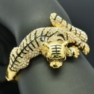 H-Quality Animal Tiger Bracelet Bangle W/ Clear Swarovski Crystals SKCA1387-4