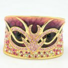 H-Quality Animal Pink Swarovski Crystals Enamel Bracelet Bangle Cuff SKA1962M-1