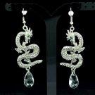 New Dangle Cute Dragon Pierced Earring Rhinestone Crystals 7 Colors FA2853