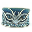 H-Quality Animal Blue Swarovski Crystals Enamel Bracelet Bangle Cuff SKA1962M-4