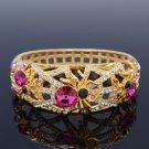 H-Quality Pink Tarantula Spider Bracelet Bangle W/ Swarovski Crystals SKCA1731