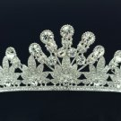 Pretty Wedding Flower Tiara Crown Headbands W/ Clear Swarovski Crystals SHA8598
