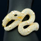 High Quality Cool Boa Snake Bracelet Bangle w/ Clear Swarovski Crystal 3 Color