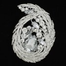 Rhinestone Crystals Clear Flower Brooch Broach Pin 4236 For Wedding