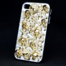 Cool Clear Swarovski Crystals Lots Bone Snake Skull Cover Case Shell iPhone 4 4S