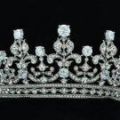 Wedding Bridal Swarovski Crystals Flower Tiara Crown W/ Clear Zircon 17363R