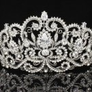 Clear Swarovski Crystals Bridal Beautiful Flower Tiara Crown Wedding JH8382