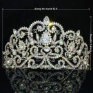 Bridal Tiara Crown Wedding Jewelry W/ Clear A/B Rhinestone Crystals 0608