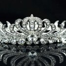 Round Flower Clear Swarovski Crystal Tiara Crow Bridesmaid Bride Bridal SHA8563a
