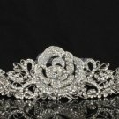 Swarovski Crystals Rose Flower Bridal Tiara Crown for Wedding 7721-2
